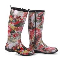 Galocha Fashion Alpat Floral Alegre Com Zíper