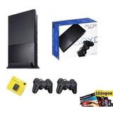 Playstation 2 Slim Play2 Play Completo + 10 Jogos + Garantia