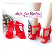 Sapato Luxo Para Boneca Barbie * Mattel * Sapatinho Vermelho