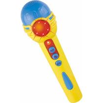 Microfone Pop Star Infantil Colorido Som E Luzes Dm Toys