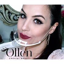 Ollen Máscara Higiênica Maquiagem Estética Protetor Salivar