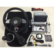 Kit Volante Multifuncional + Central Multimídia Vw Gol G3