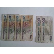 Nota Antiga Para Colecionadores (de 500 E 100.000 Cruzeiros)