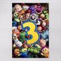 Poster 60x90cm Filmes Infantis Animacao Toy Story 3 Todos