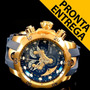 Rélogio Invicta Reserve Venom Azul Banhado Ouro18k -14465