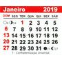 100 Mini Calendário 2019 Bloco Para Imã Personalizado