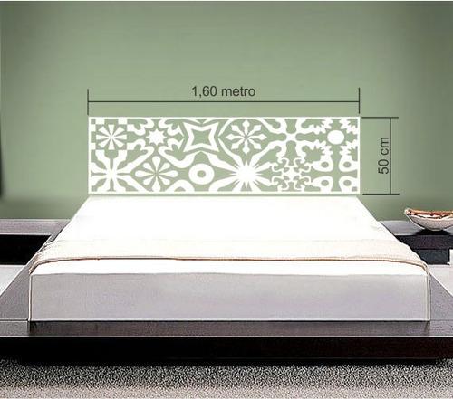 Adesivo parede cabeceira cama queen quarto casal 50x160 cm for Cama queen precio