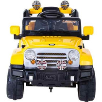 Jipe Infantil Carro Elétrico Trilha Amarelo