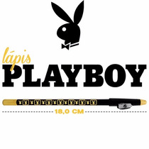 Kit C/12 Lápis Preto Delineador Olho Playboy Original