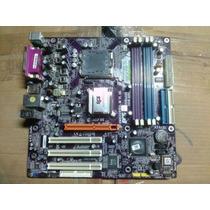 Placa Mae Ecs P4m800-pro Socket 775 Ddr2/ddr1