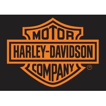 Adesivo Harley Davidson (20 X 15 Cm) Vinil Aço Escovado