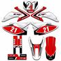 Adesivos Gráficos Para Moto Crf 230 Kit Crf230 Crf03