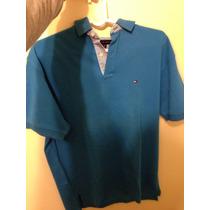 Camisa Polo Tommy Hilfinger Tamanho G Original Azul
