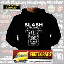 Blusa Moletom Slash Myles Capuz Bolso Banda Rock Camisa Guns