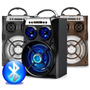 Caixa De Som Portatil Amplificada Usb Mp3 Radio Fm Cart E13