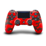 Controle Joystick Sem Fio Sony Dualshock 4 Red Camouflage