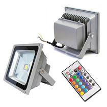 Refletor Holofote Led Rgb 20w Ip65 Bivolt Colorido Controle