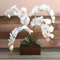 Arranjo Artificial Orquídea Phalaenopsis 4 Galhos Caixote