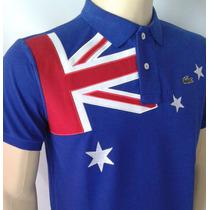 Camisa Polo Pais Australia Com Frete Gratis Brasões Bordados
