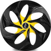 Jogo Calota Esportivas Aro 14 Evolution Black Yellow Tunning