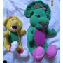 Lote 2 Pelúcias Amigos Do Barney Dinossauro Roxo Veja Fotos