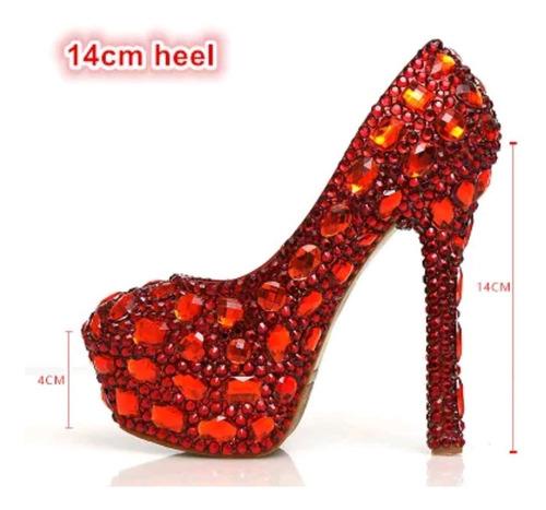 68c1b6f08 Sapato De Noiva Cristal Debutante Vermelho