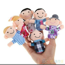 Kit Fantoches De Dedo Familia Feliz! Dedoche Pedagogico 6 Un