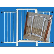 Portão Grade Proteção Porta Criança Pet Cães 109 Cm A 114 Cm