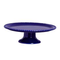 Prato Bolo Com Pe Bolinha Azul Scalla