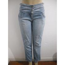 Calça Jeans Com Elastico Atrás Tam 40 Gata Bakana