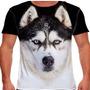 Camiseta Cachorro Husky Siberiano Black Masculina