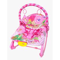 Cadeira Cadeirinha Descanso Musical Rocker Com Balanço Rosa