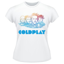 Baby Look Coldplay Banda Rock Camiseta Feminina