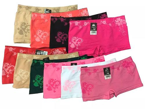 362872211 Calcinha Boxer Feminina Sem Costura Lateral Atacado 10 Peças à venda ...
