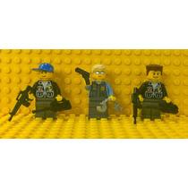 Lego City 3 Bonecos Polícia Treinada C/ Armas Frete Grátis!