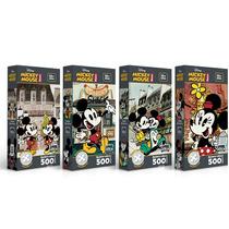 Kit 4x Quebra-cabeças Mickey Retro (9157+9158+9159+9160)*