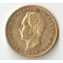Portugal 5 Mil Reis Muito Rara Sob 8,96 Gr Ouro 917