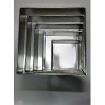 Jogo De Forma Quadrada 5 Peças (aluminio) 8 Altura