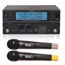 Sjf Arcano Microfone Sem Fio Duplo Uhf 2 Mics Arwx2180