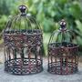 Kit 2 Gaiola Provençal Decorative #83062 Ferro Escolha A Cor
