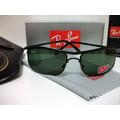 Rayban Oculos De Sol 3339 Demolidor Preto L.verde G15