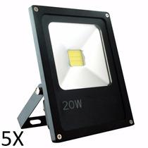 Kit 5 Refletor De Led - Holofote Branco Frio 20w - Bivolt