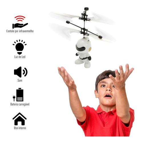 Mini Drone Brinquedo Robo Voador Infravermelho Voa Verdade