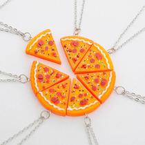 Colar Corrente De Pizza Cordão Melhores Amigos Best Friends