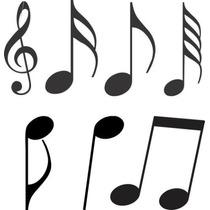 Adesivo Decorativos - Notas Musicais Para Quarto, Geladeira