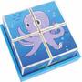 Quebra Cabeça Cubos Cubinhos -animais Do Mar Bebe + 18 Meses
