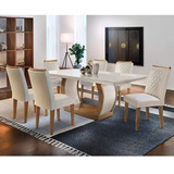 Conjunto Sala De Jantar 6 Cadeiras Kate Siena Moveis If