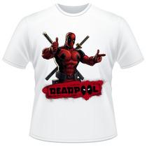 Camiseta Infantil Deadpool Marvel Super Herói Camisa