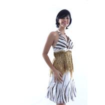 Vestido De Festa Curto -frente Única - Pronta Entrega