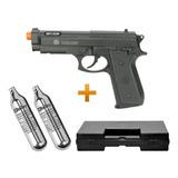 Pistola Airsoft Co2 Taurus Pt92 6.0 Cyber + 02 Co2 + Maleta